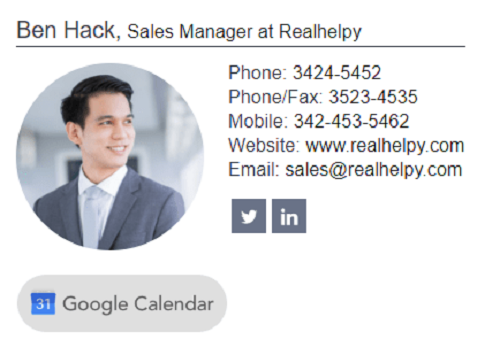 realtor email signature 5