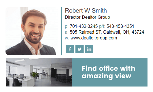 realtor email signature 6