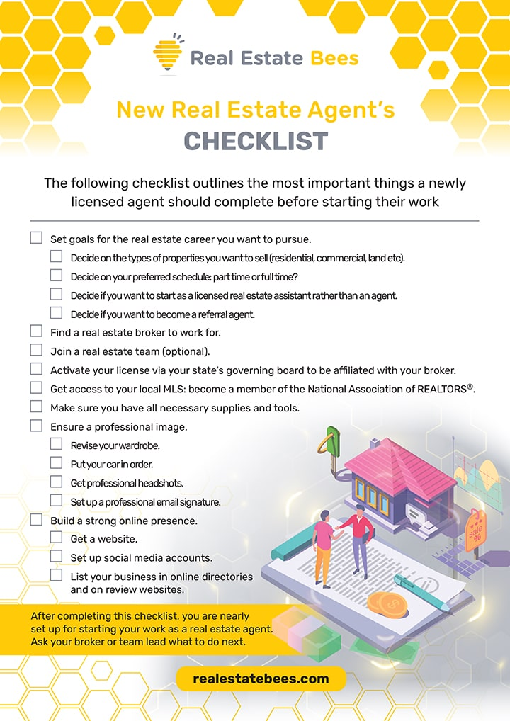 New Real Estate Agent's Checklist (Real Estate Bees)